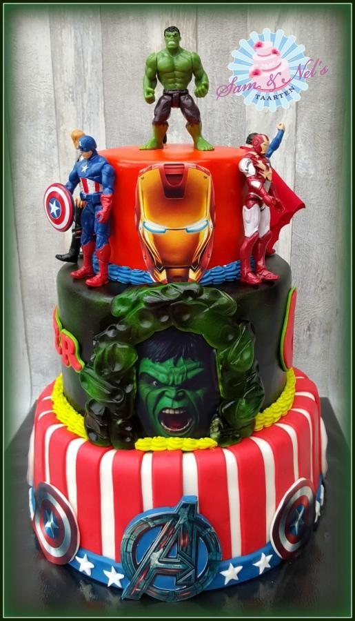 avengers taart The Avengers cake   Cake by Sam & Nel's Taarten | Super hero cakes  avengers taart