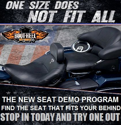 Ride it before you buy it. The new H-D seat demo program at Bootheel Harley Davidson