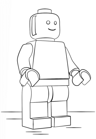 Omino Lego Da Colorare Ricerca Google Lego Free Colori