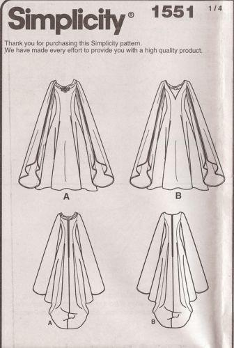 Galadrial Costume PATTERN 1551 Simplicity Sz 8-24 LOTR Elf Wizard ...