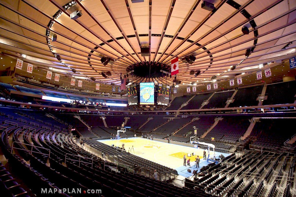 Madison Square Garden Seating Chart Actual View Level 100 Canadian