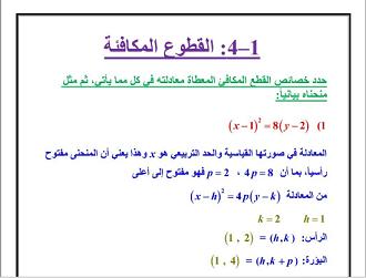 الرياضيات ثالث ثانوي النظام الفصلي الفصل الدراسي الأول Math Math Equations 4 H