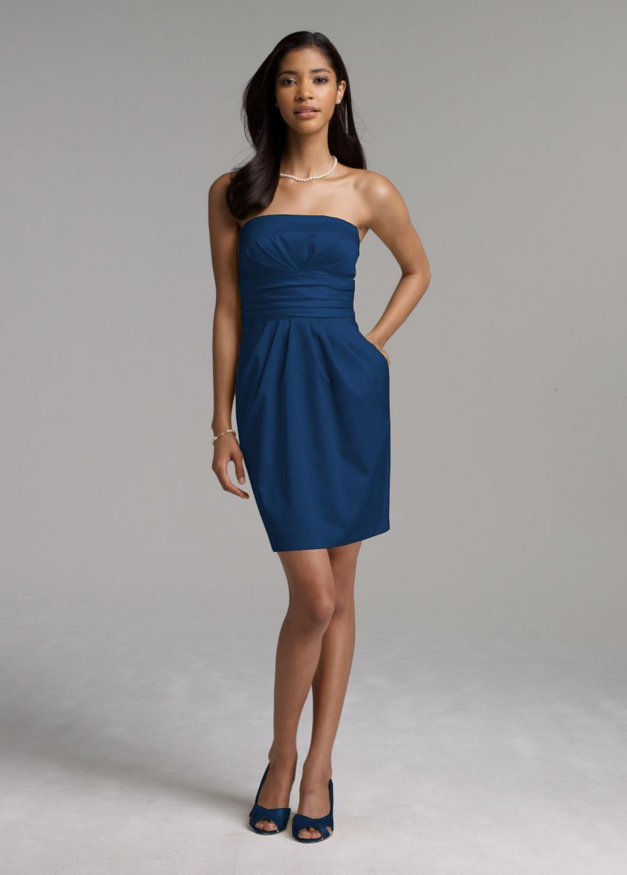 Navy bm dress abby and alec wedding ideas pinterest weddings