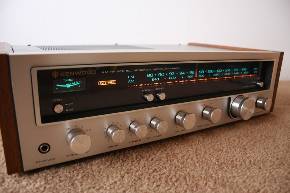 Vintage Kenwood Kr 3600 Am Fm Stereo Receiver Stereo Stereo Systems Kenwood