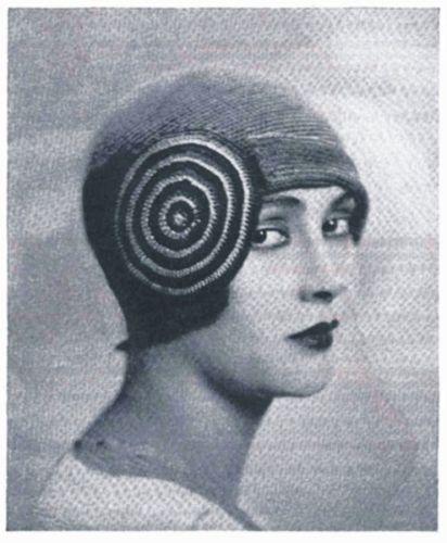 Vintage Crochet 1920s Flapper Hat Pattern The Monte Carlo