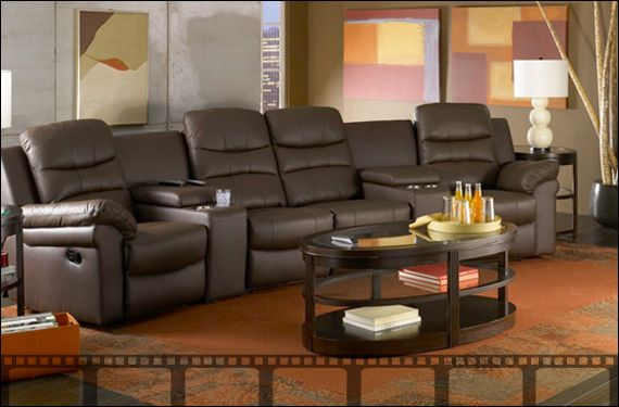 Seatcraft Genesis Home Theater Sectional   Theater Furniture