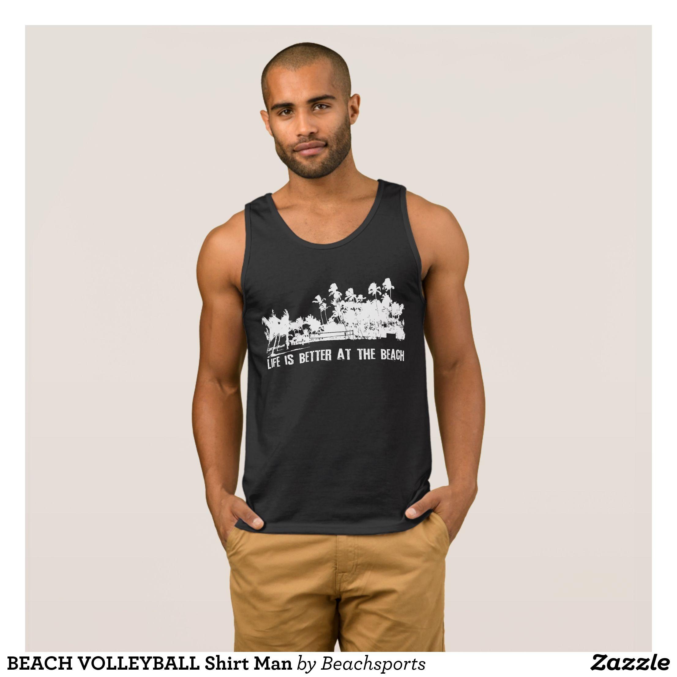 Beach Volleyball Shirt Man Zazzle Com Work Tank Tops Funny Tank Tops Vintage Tank Top