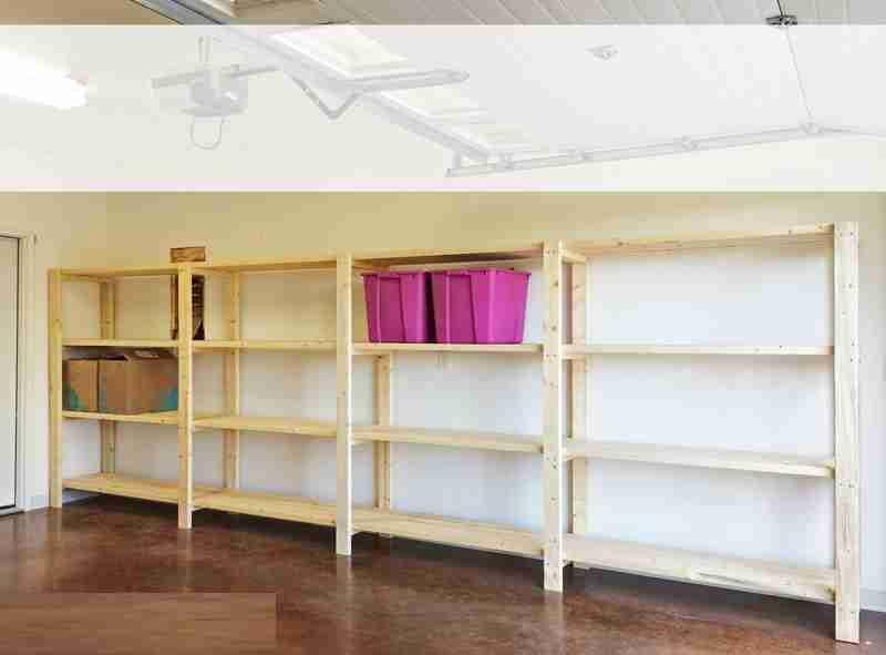 Easy Garage Shelves Diy Storage Shelves Garage Storage Shelves