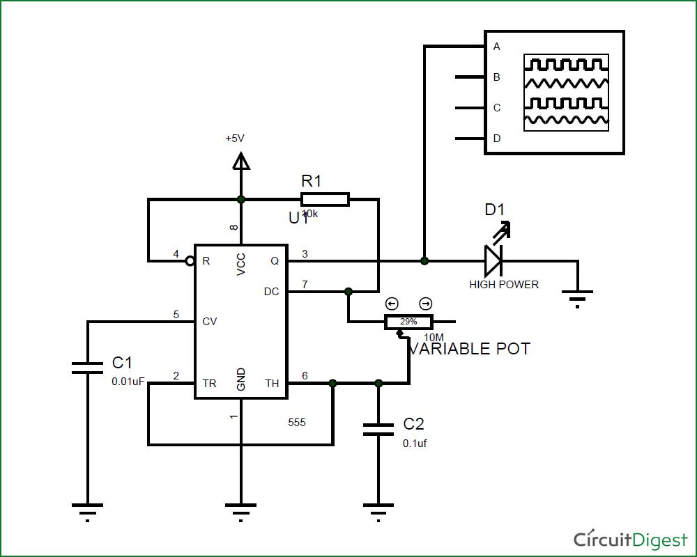 12v led strobe light circuit diagram