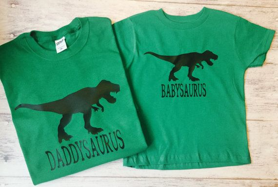 28e37e31 Three Daddy baby dinosaur t-shirts matching by PurpleElephantCo Father's  Day T Shirts, Baby