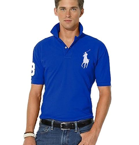 8b0a4a923 cheap Discount Wholesale Mens Polo Ralph Lauren Shirts Big Pony Polo  Tshirts Outlet In Blue-White-539
