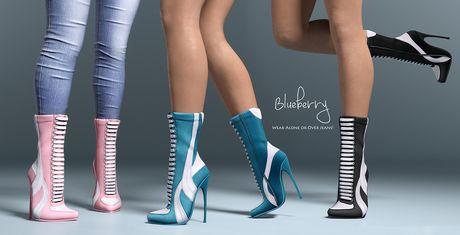 e14c6b088d09e ... Second Life Marketplace Item! Blueberry - Fire Boots - Maitreya,  Belleza (All), Slink Physique Hourglass - ( Mesh ) Full Pack