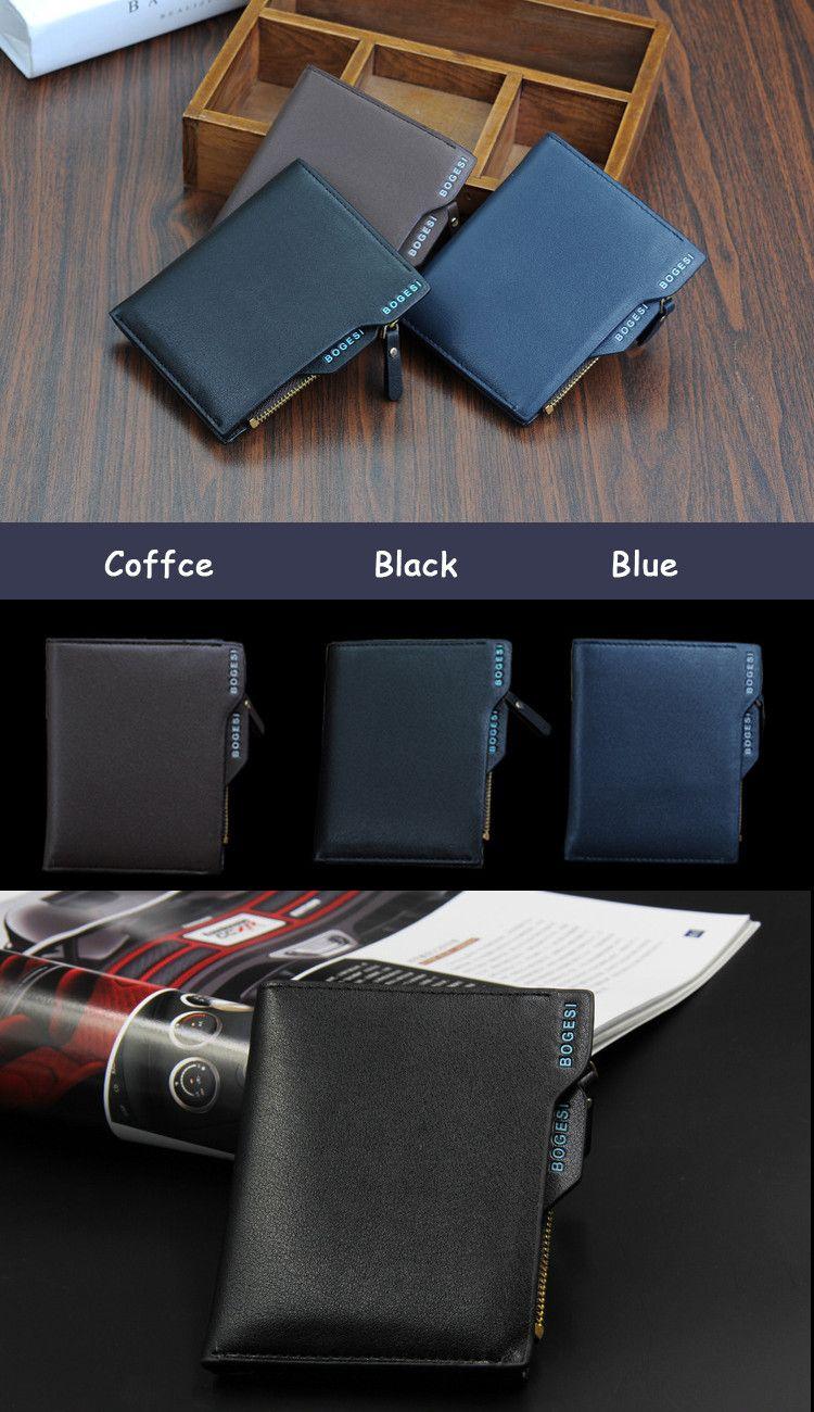 Clutch Portfolio Designer Famous Brand Short Men Wallet Purse Carteras Walet Bag
