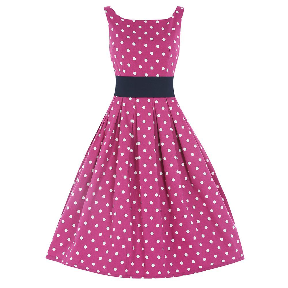 Lana' Pink White Polka Dot Swing Dress | Vintage, Swing dress and ...