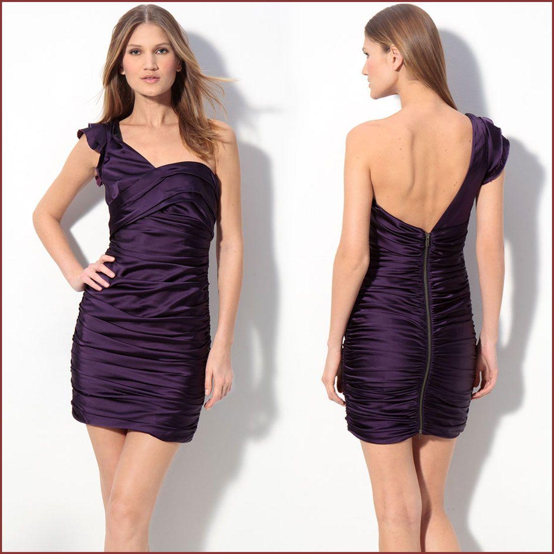 One Shoulder Purple Bridesmaid Dress Vera Wang
