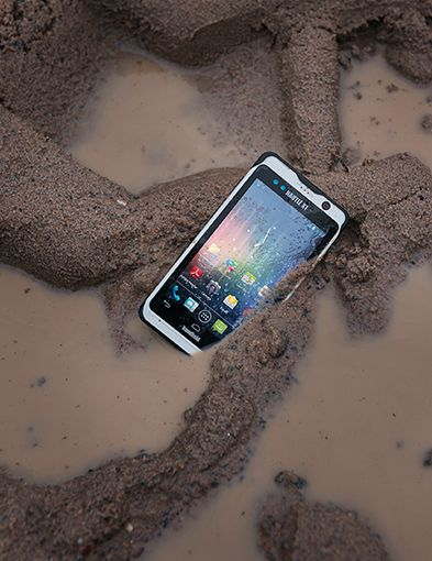 Handheld NAUTIZ X1 rugged Android smartphone for rough work