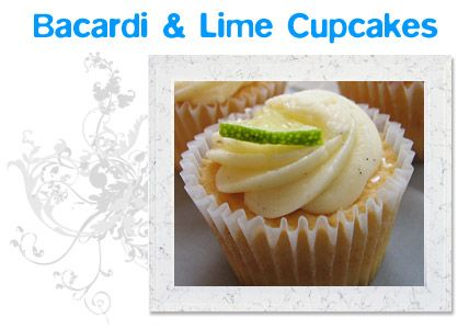 Bacardi & Lime Cupcakes | The Cupcake Zone