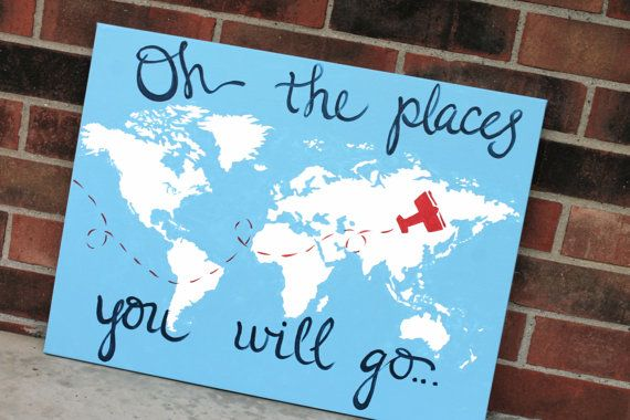 """18""""x24"""" world map canvas. oh the places you will go. custom colors by sincerelyYOU on Etsy.  more at www.sincerelyYOU.etsy.com"""