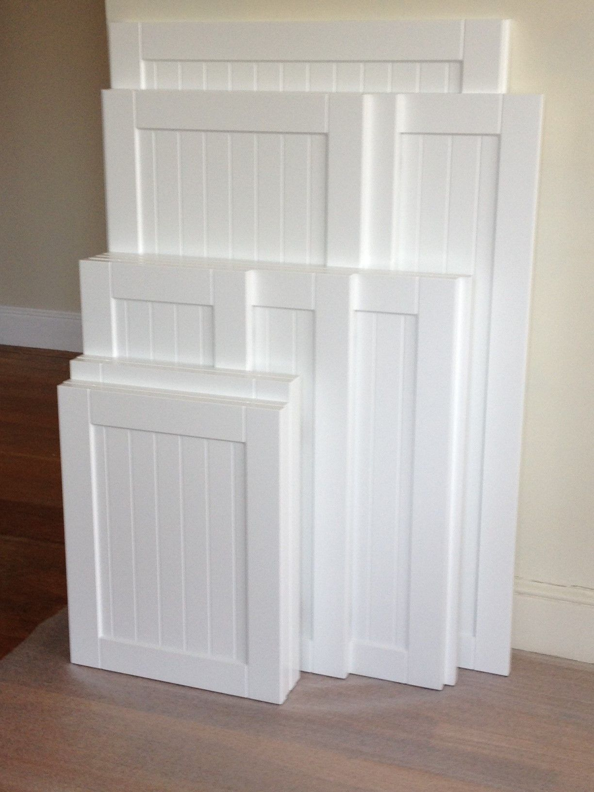 White Kitchen Cabinet Doors Work Table With Drawers Refacing The Process Cabinets Pinterest Shaker Style Beadboard Accent