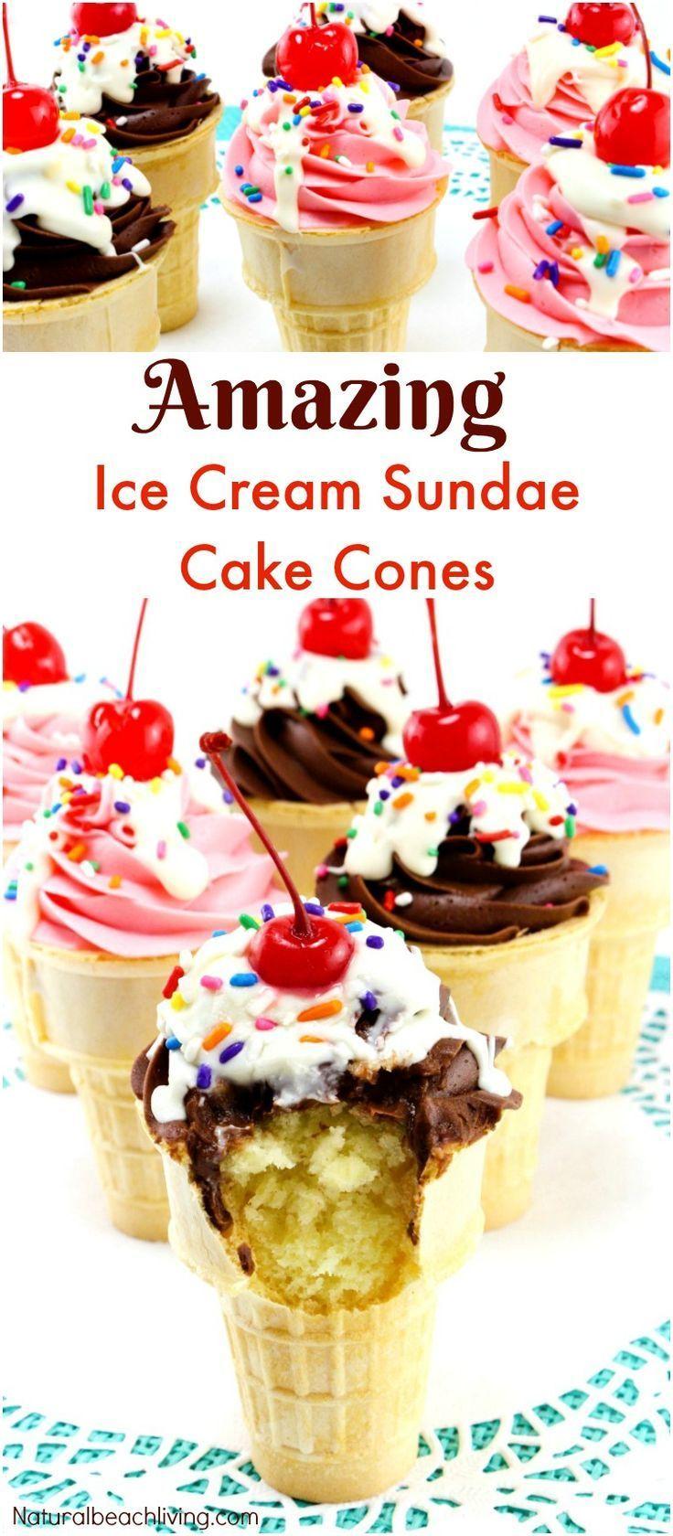 How To Make Amazing Sundae Ice Cream Cake Cones Make Delicious