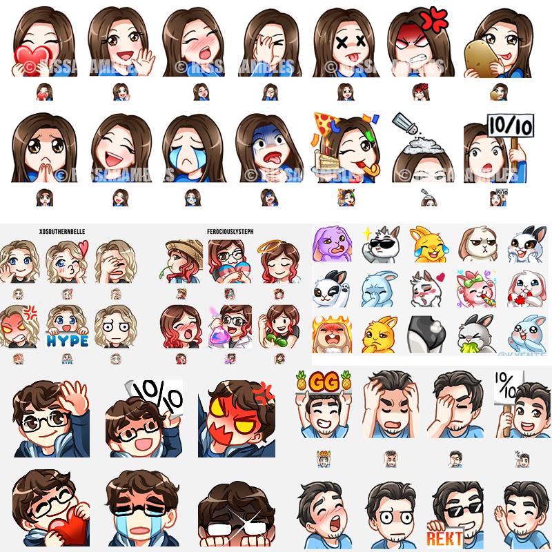Twitch Halloween Art 2020 devy29 : I will create cute custom twitch emotes, sub badges, chat