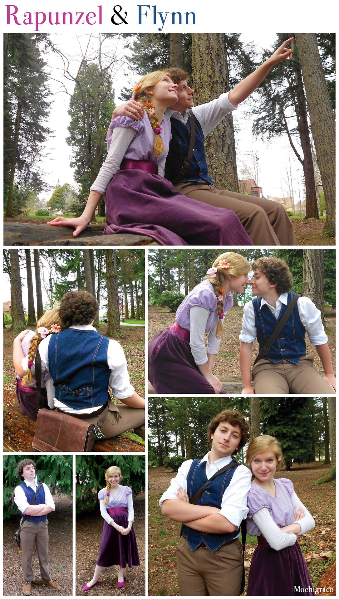 A Couple Disneybounding As Rapunzel And Flynn Rider From Tangled Both Outfits Were Locally Thrifted Disneybound Couples Disneybound Disney Bound Outfits