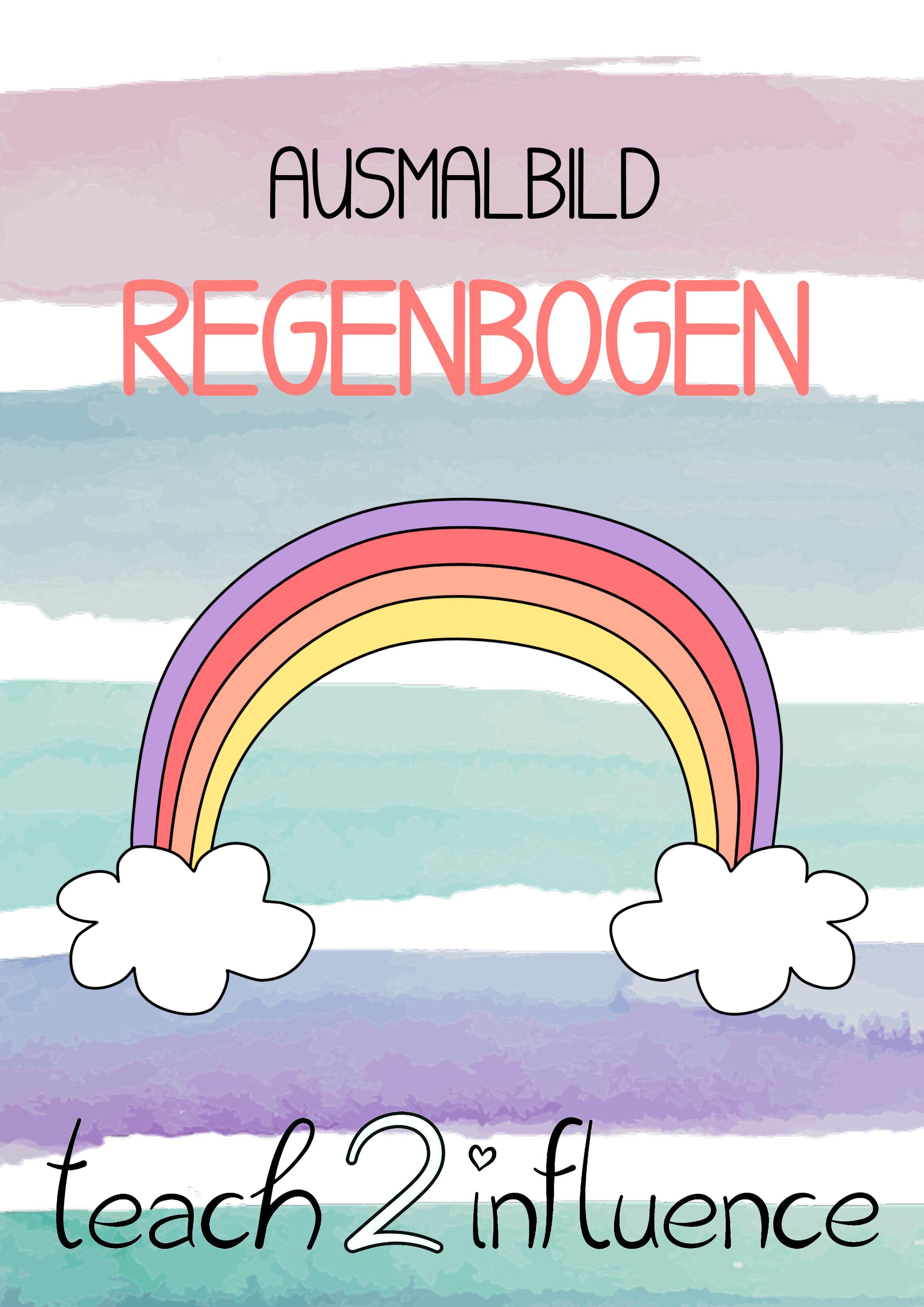 Ausmalbild Regenbogen Unterrichtsmaterial Im Fach Kunst Ausmalen Ausmalbild Bilder