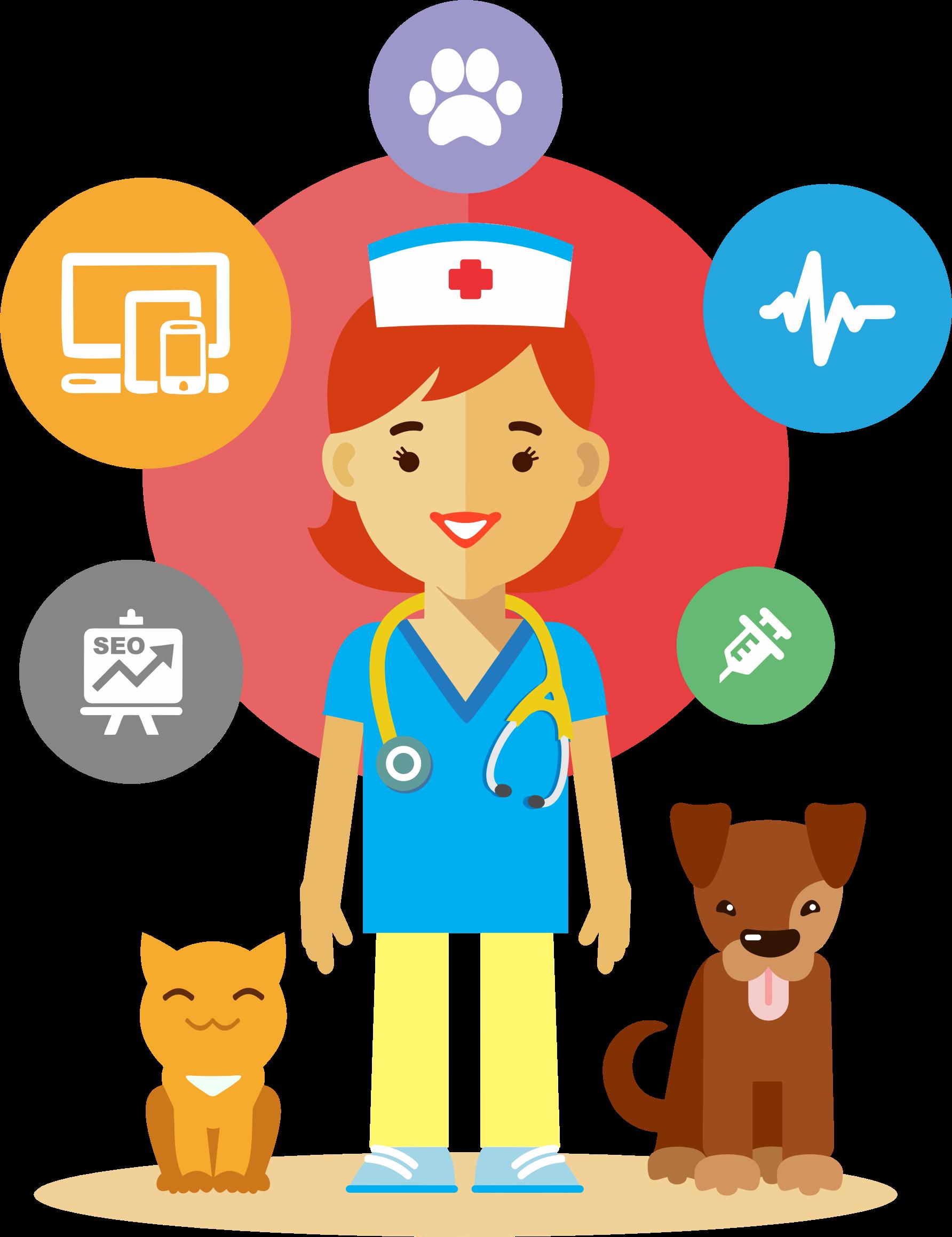 Veterinarian by GDJ | Animales - vector | Animal doctor ...