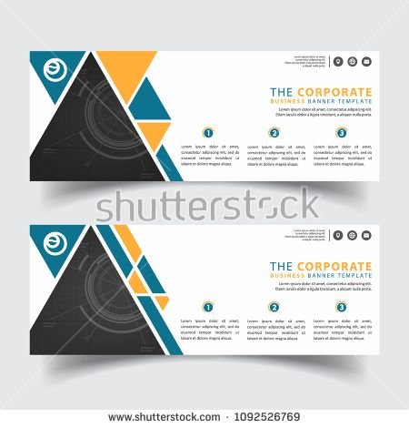 Horizontal modern corporate business banner vector templates search horizontal modern corporate business banner vector templates search tag banners banner horizontal business corporate designs template creative fbccfo