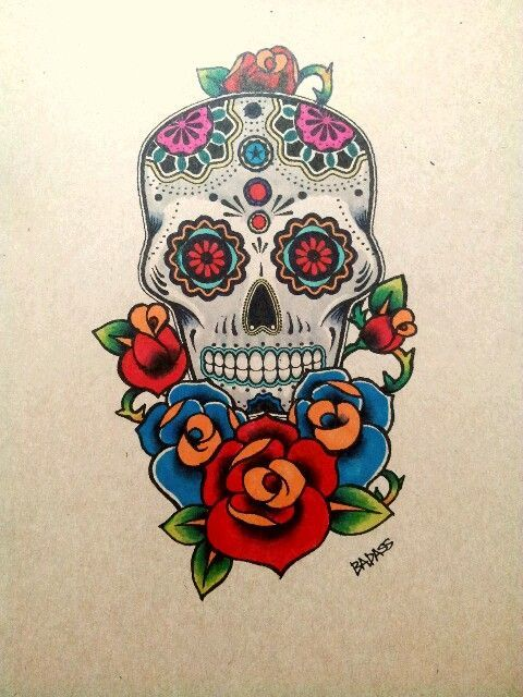 Sugar Skull Tattoo Design By Badass Tattoos Tatoo