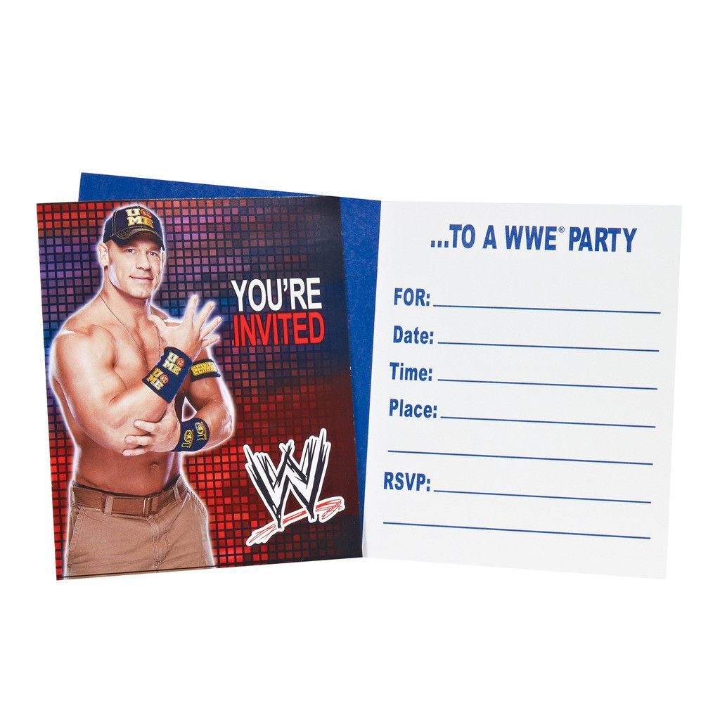 WWE Party Invitations (8) | Wwe party, Party invitations and Birthdays