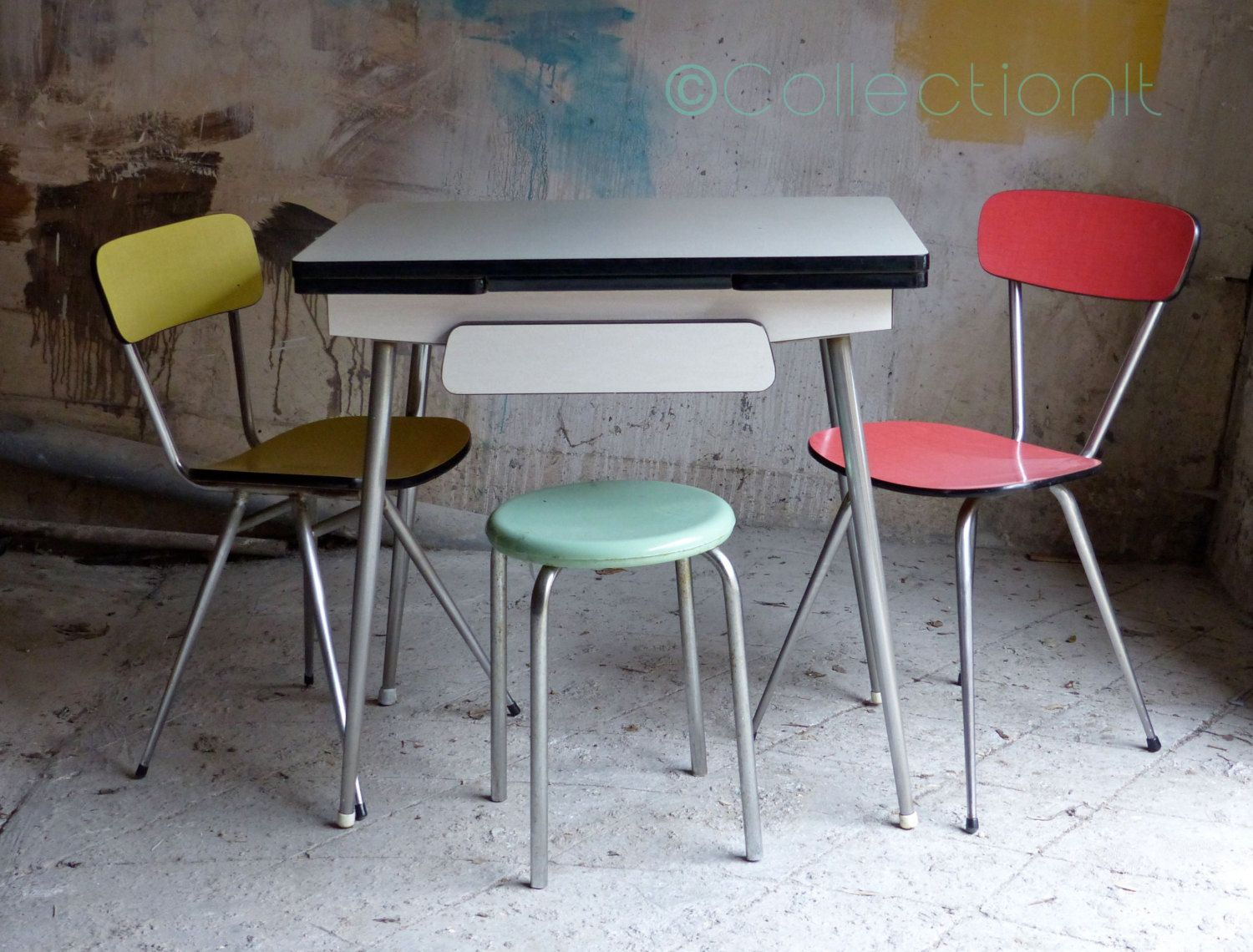 Table Formica Blanche Mid Century French Table Reserve Pour