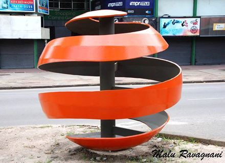 Escultura Laranja em Campo Grande -