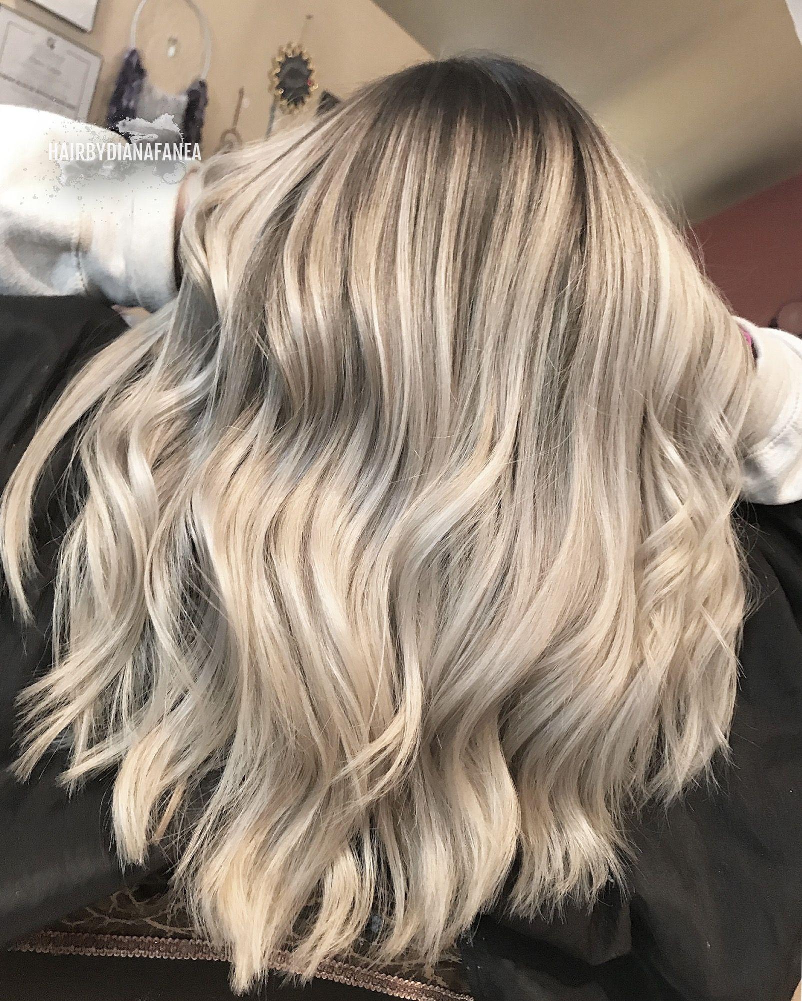 Icy blonde Balayage Blonde hair Platinum blonde Hair Pinterest