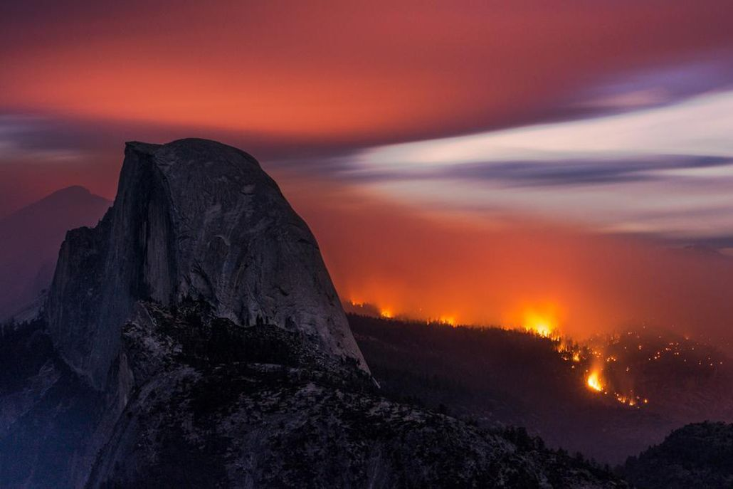 Yosemite + wildfire equals a gallery of photos to stop you in your tracks. http://www.adventure-journal.com/2014/09/yosemites-meadow-fire-is-a-beautiful-burn/