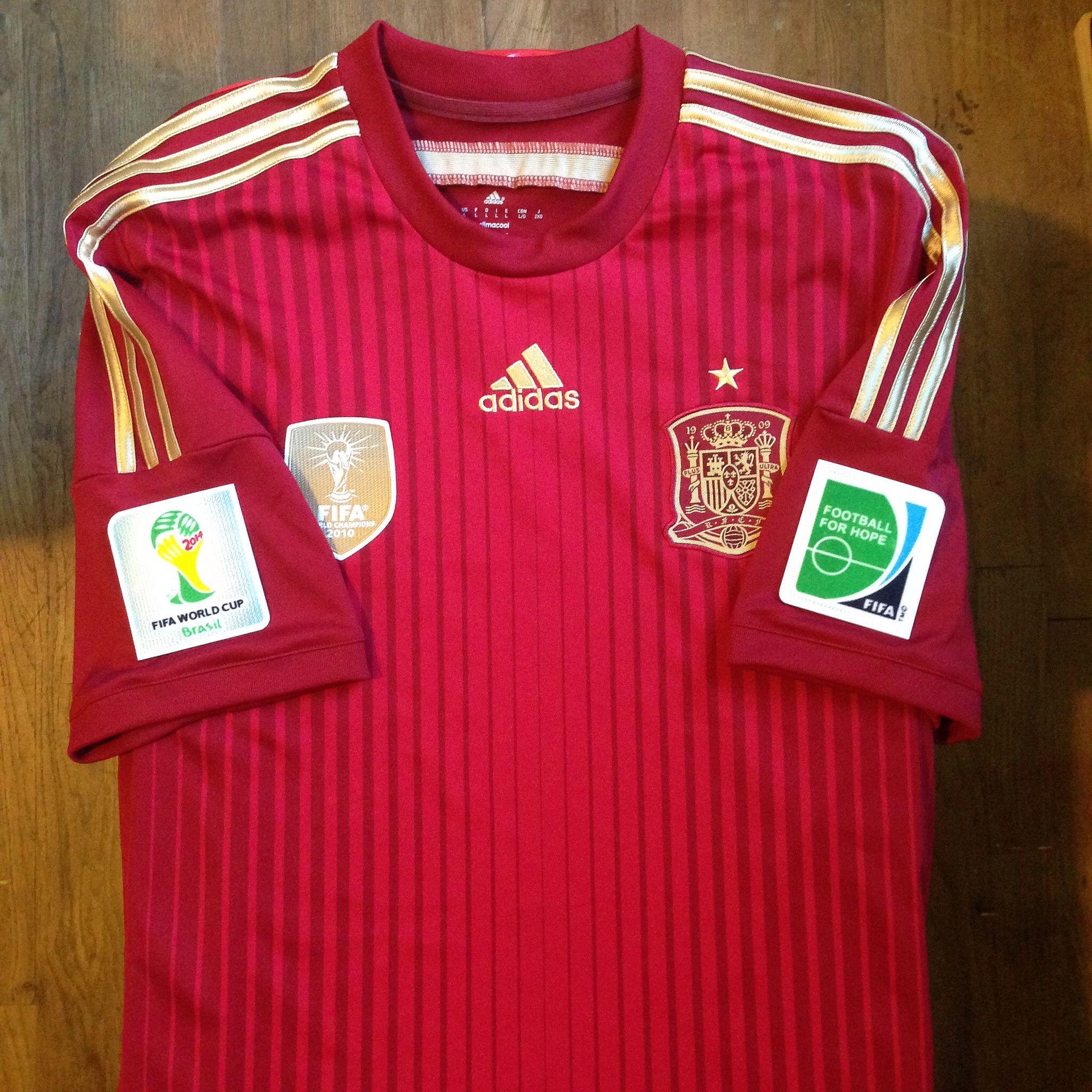 81bf002a59f 2014 Brazil FIFA World Cup Spain Home Jersey    Primera Equipación de la  Selección Española