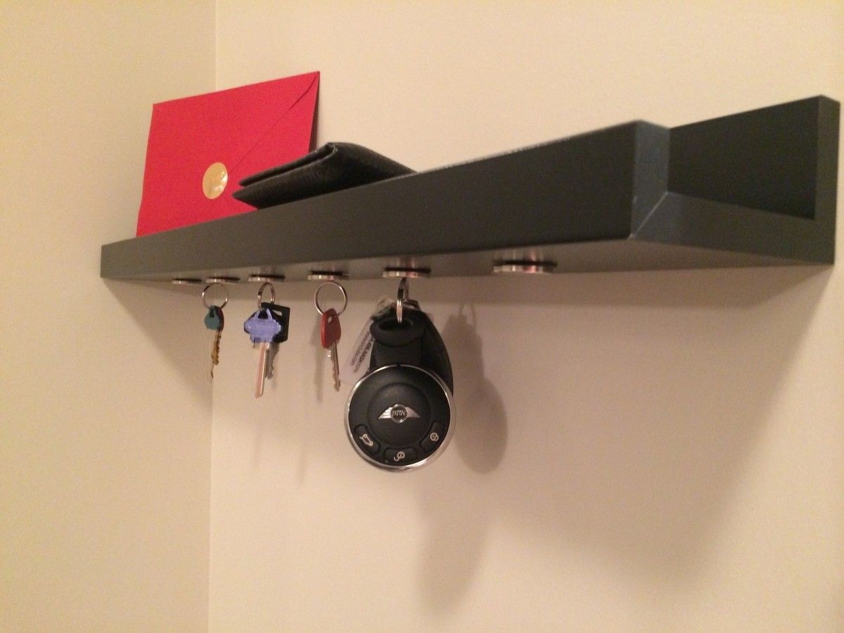 Hack An IKEA Ribba Picture Ledge Into A Magnetic Key Holder. I Need This In
