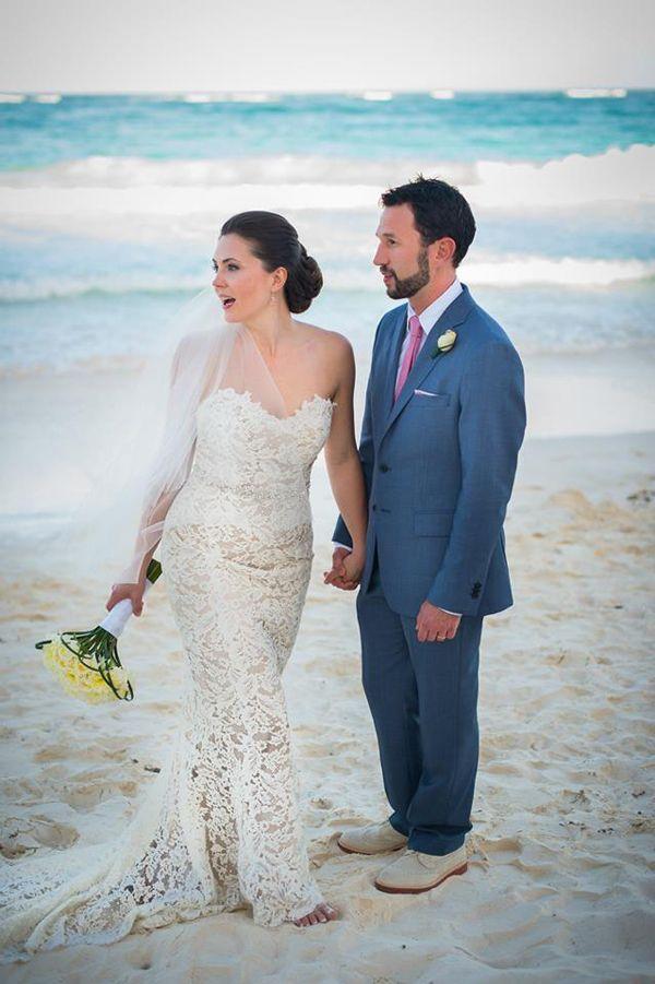 Real Wedding Anna Maier Bride Mexico Destination Bé