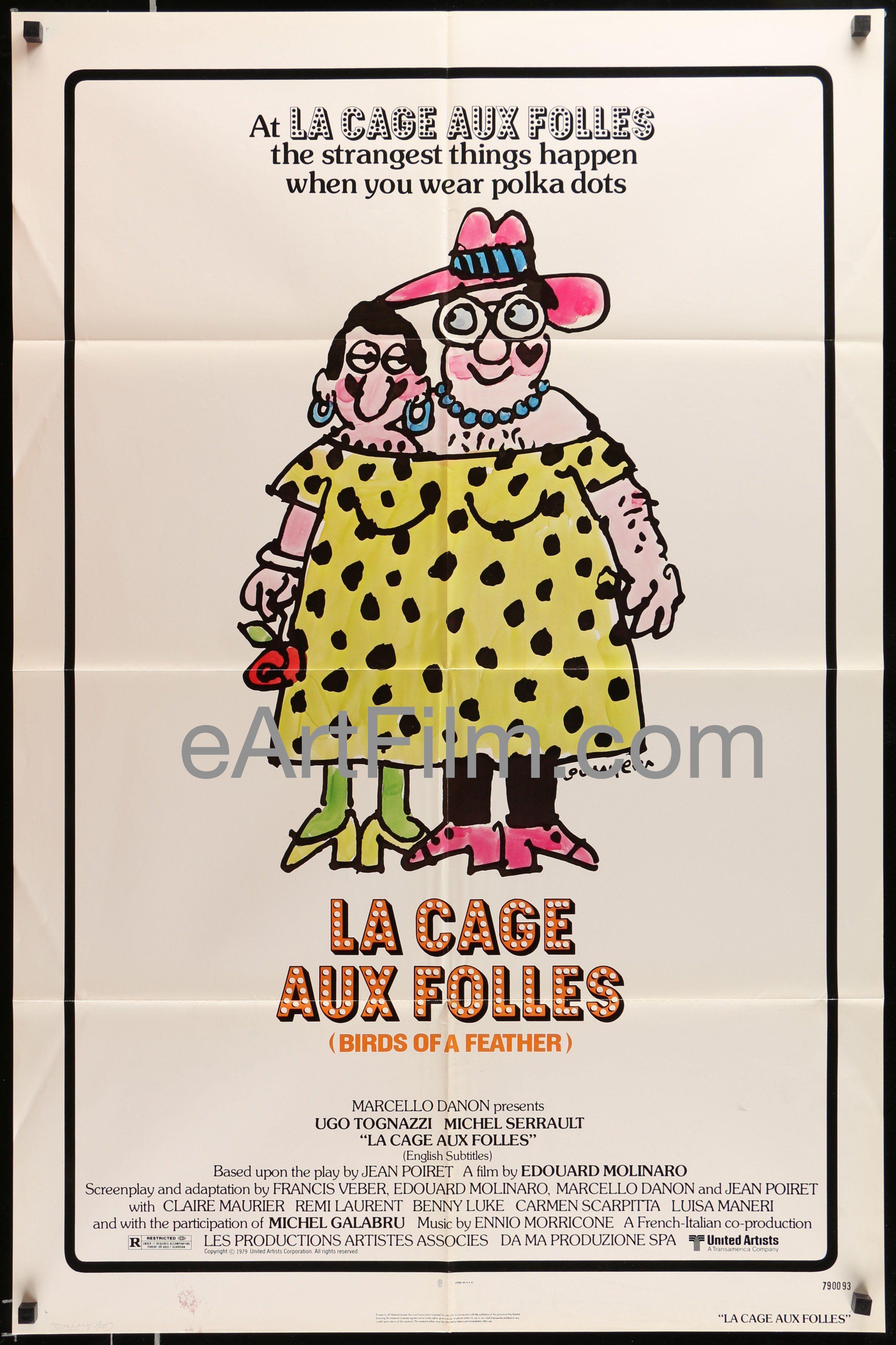 La cage aux folles Ugo Tognazzi vintage movie poster