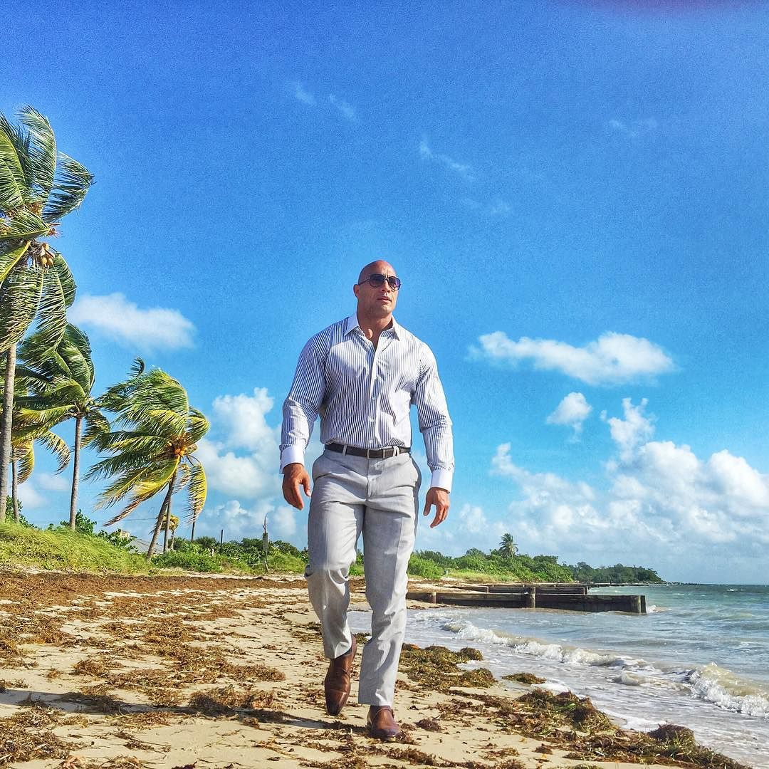 Handlin' some business on the quieter side of my hometown. #OnSet #BALLERS #HBO #Season2 #Miami by therock