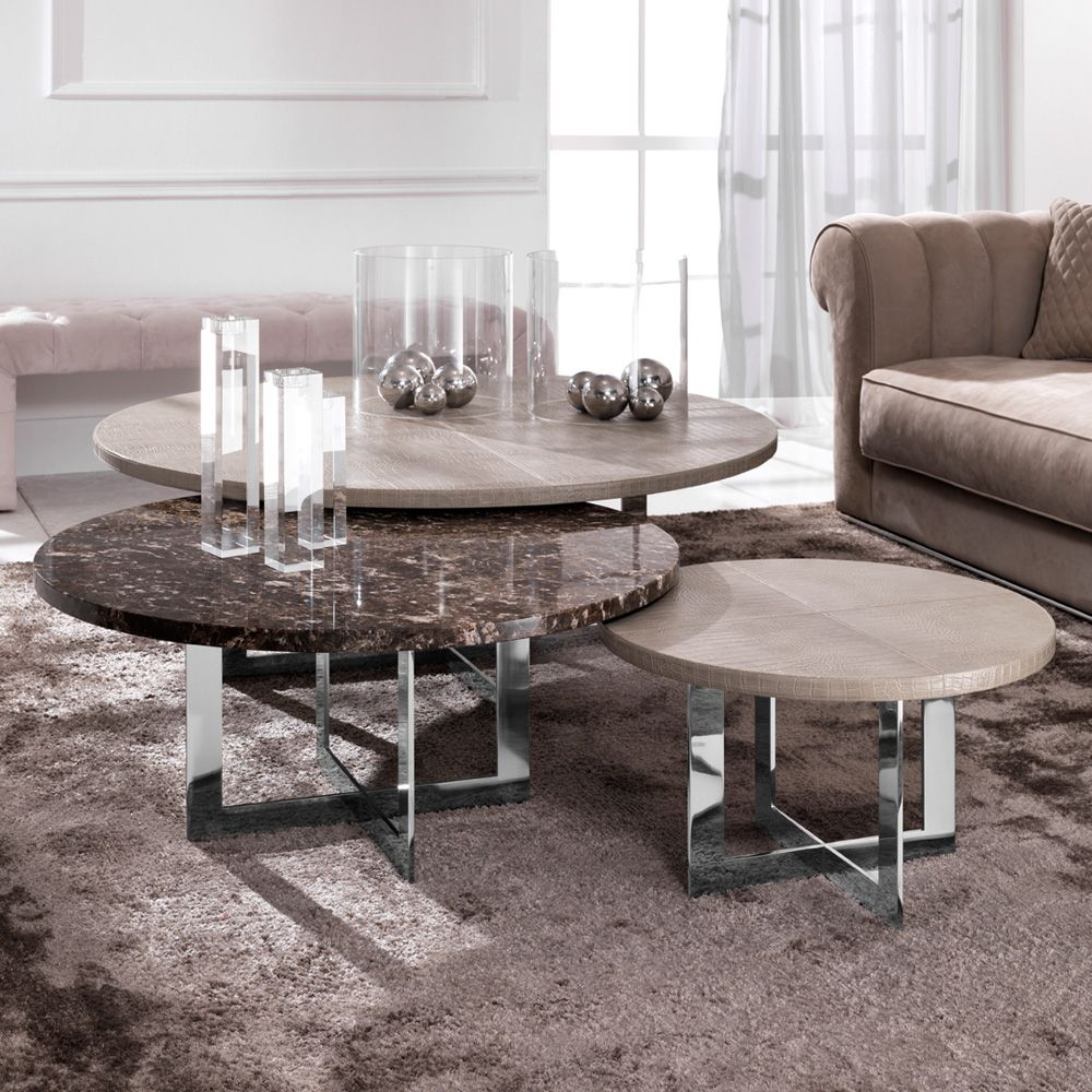 Couchtisch Opium Silver Luxury Nest Of Round Coffee Tables In 2019 Table Pinterest