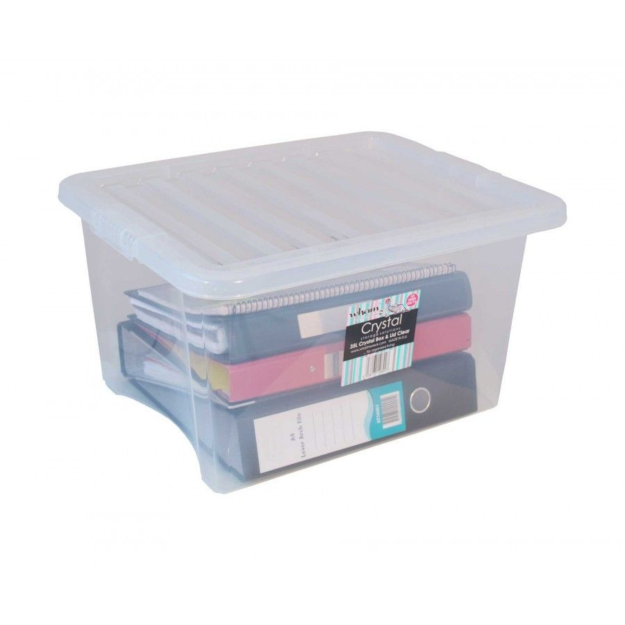 35 Litre Crystal Storage Box and Lid Pack of 10 - Plastic Storage Boxesu2026  sc 1 st  Pinterest & 35 Litre Crystal Storage Box and Lid Pack of 10 | Pinterest ...