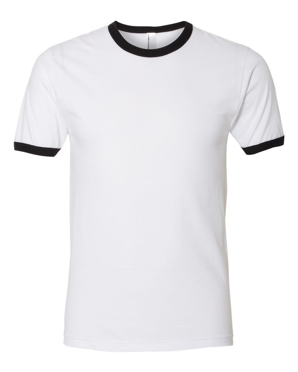 Download American Apparel Fine Jersey Ringer Tee 2410w American Apparel White And Black Online Shopping Clothes