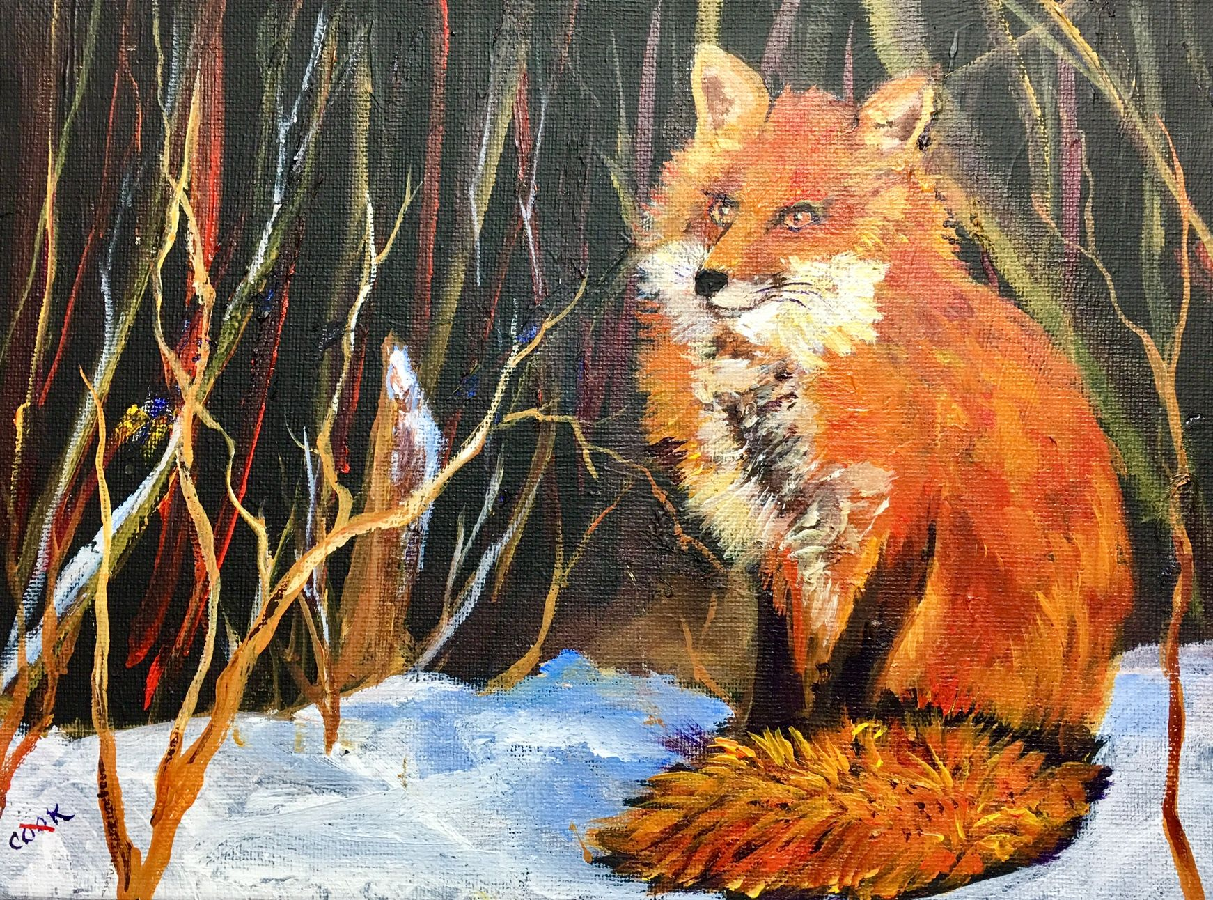 Foxie Lady is our weekly release for Dec. 22. This 9×12 painting is fun to paint…