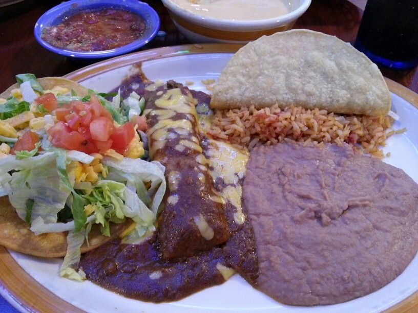 Enchilada, Chalupa, Crunchy Taco, Refried Beans and Rice- Adobe Cafe ...