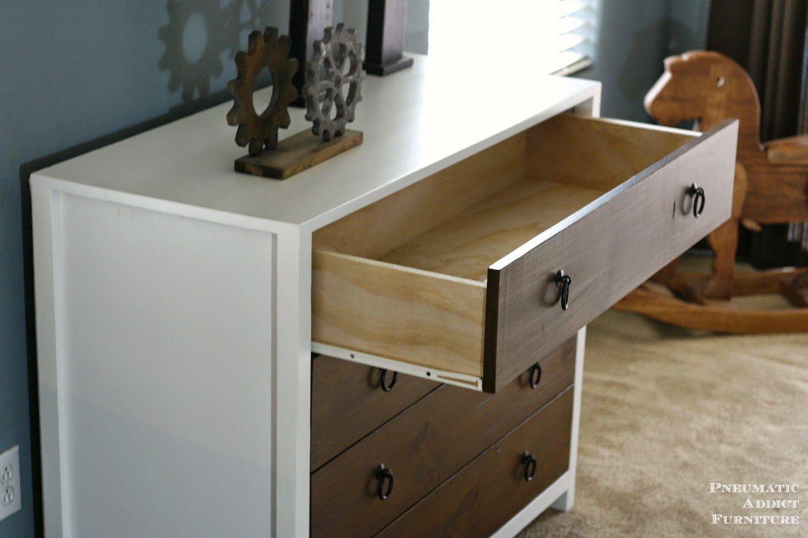 Jordan Dresser Knockoff Dresser remodel, Wood drawers