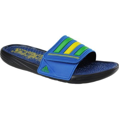 e84ae10d3cb52c adidas Men s Retrossage Country Black Blue Beauty Vivid Yellow (Brazil)  Sandal 10 D (M)   See this great product.