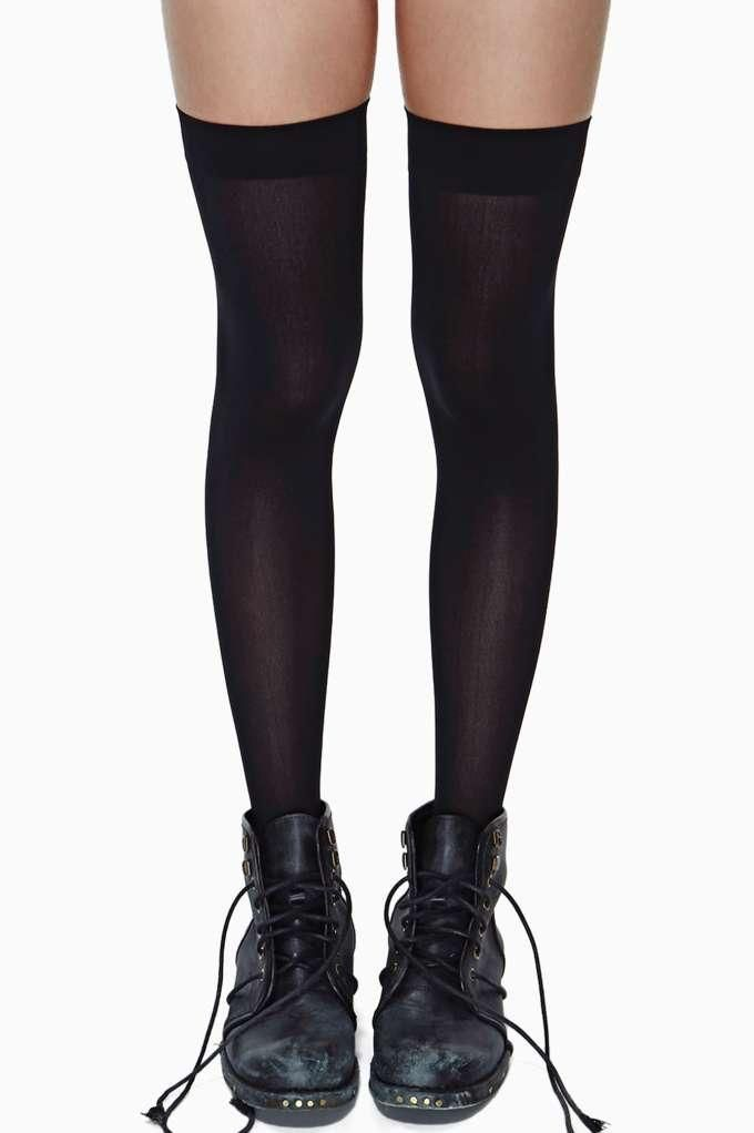 8e06eb0af ... women s clothing and fashion accessories online from Nasty Gal. School  Girl Thigh High Socks