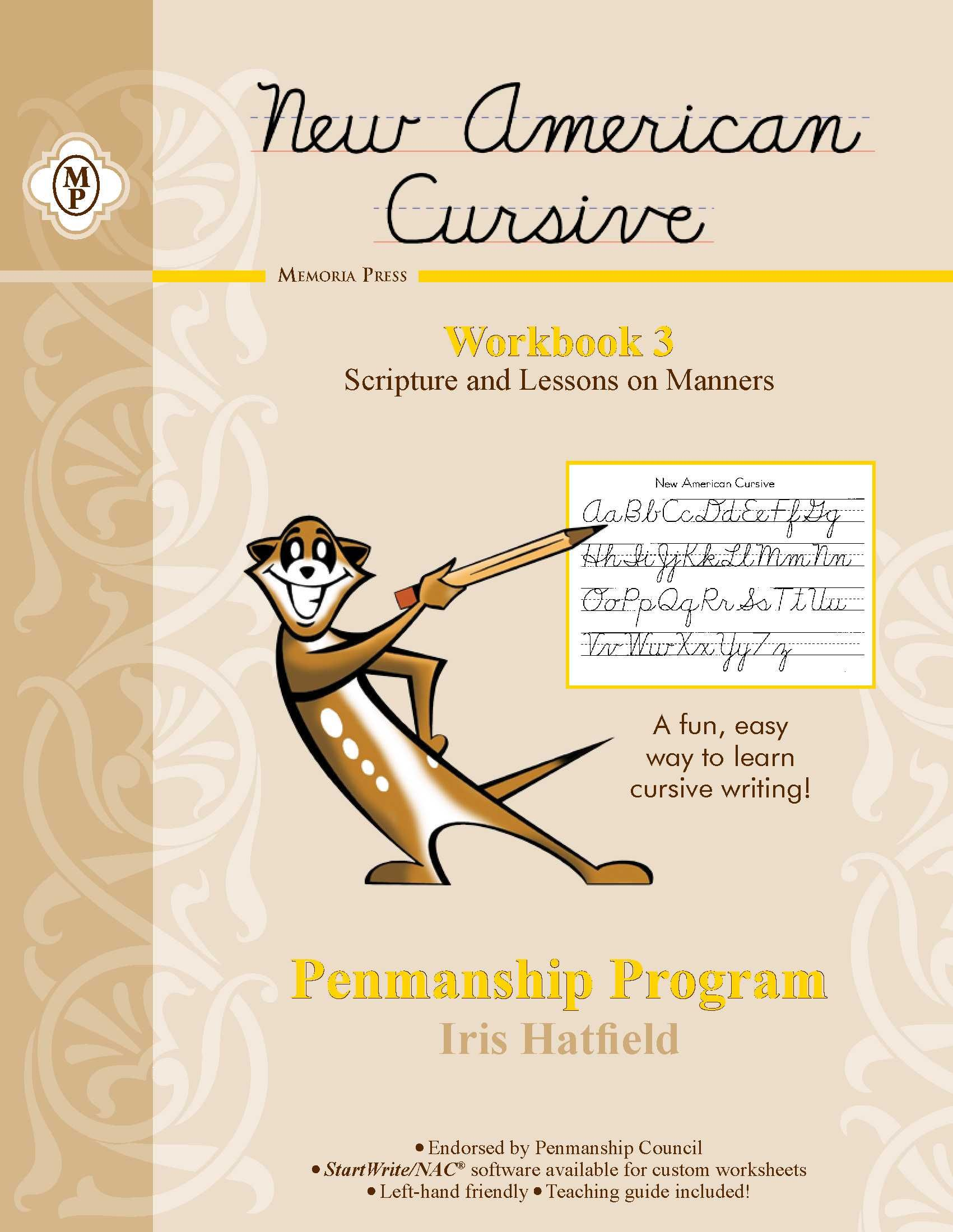 Nac Penmanship Workbook 3 For Third Year Cursive Writers