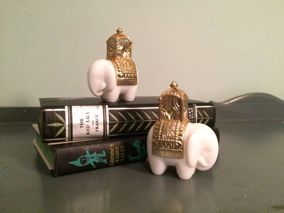 Two Avon Royal Elephant Chrisma Cologne Decanters by HobAndNail